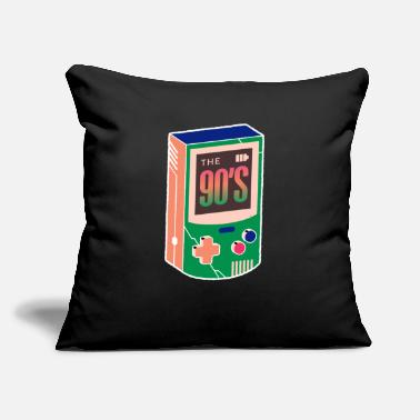 "Gaming The 90s - Gaming - Born In The 90s Old Time Gaming - Throw Pillow Cover 18"" x 18"""