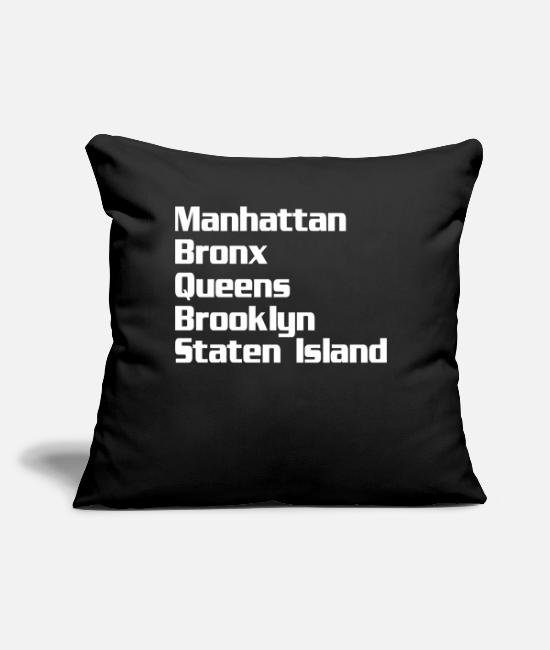 "I Love Pillow Cases - Neighborhoods New York - Throw Pillow Cover 18"" x 18"" black"