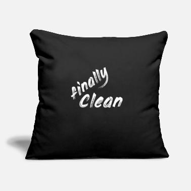 "Clean What It Is finally clean - Throw Pillow Cover 18"" x 18"""