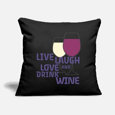 "Winemaker Pfalz Rheinhessen Winemaker viticulture - Throw Pillow Cover 18"" x 18"""