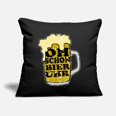 "Oh Already Beer Oclock Oh Even beer o'clock! funny saying - Throw Pillow Cover 18"" x 18"""