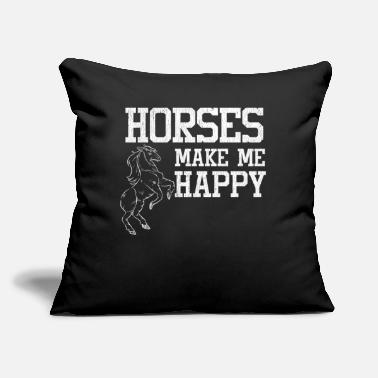 "Stall Love horses stall riding - Throw Pillow Cover 18"" x 18"""