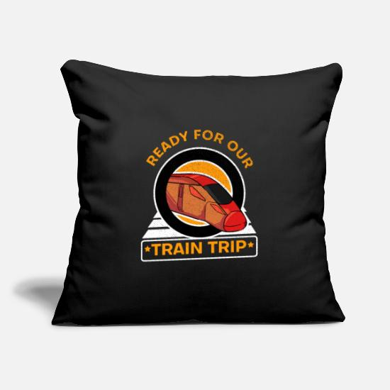"Locomotive Pillow Cases - express - Throw Pillow Cover 18"" x 18"" black"