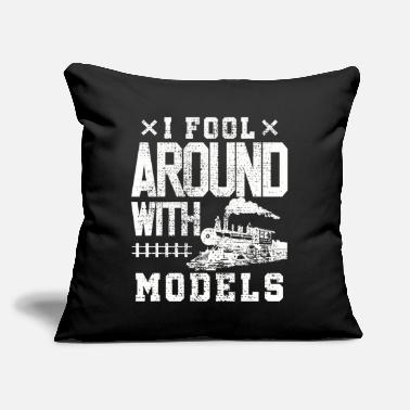 "Training Model train train trains - Throw Pillow Cover 18"" x 18"""