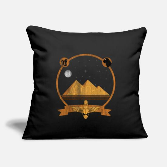 "National Pillow Cases - Egypt Attraction - Throw Pillow Cover 18"" x 18"" black"