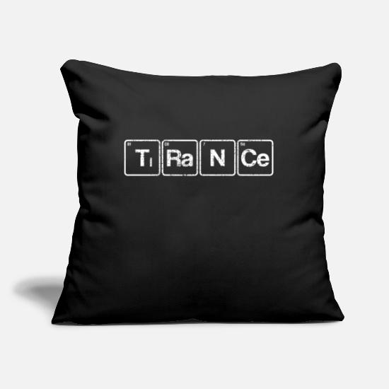 "Hardstyle Pillow Cases - Techno trance - Throw Pillow Cover 18"" x 18"" black"