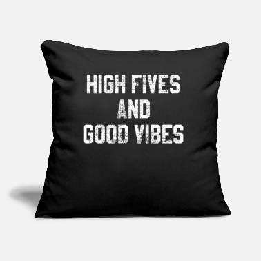 "Mood High Five Gute Laune - Throw Pillow Cover 18"" x 18"""