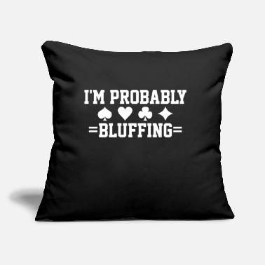 "Bluff Poker Card Game Bluff - Throw Pillow Cover 18"" x 18"""