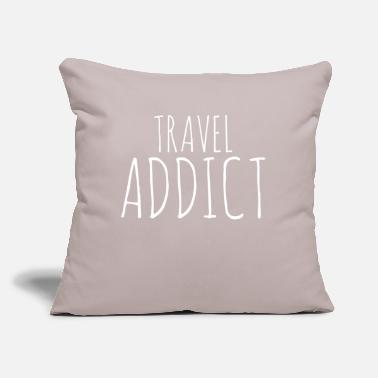 "Travel Travel Travel Travel - Throw Pillow Cover 18"" x 18"""