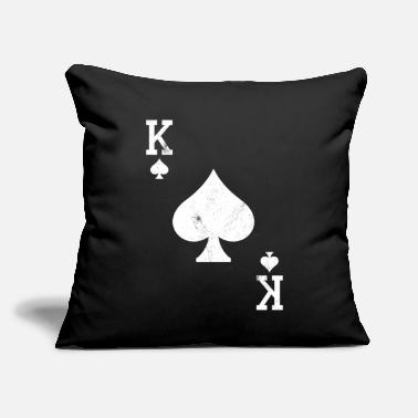 "Bluff King Poker Card Bluff - Throw Pillow Cover 18"" x 18"""
