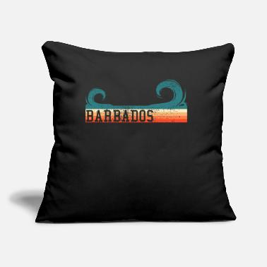 "Commonwealth Barbados retro waves - Throw Pillow Cover 18"" x 18"""
