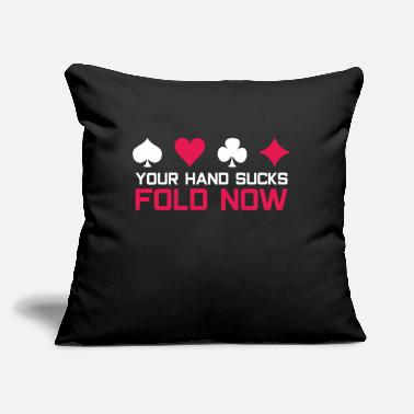 "Bluff Poker bluff - Throw Pillow Cover 18"" x 18"""