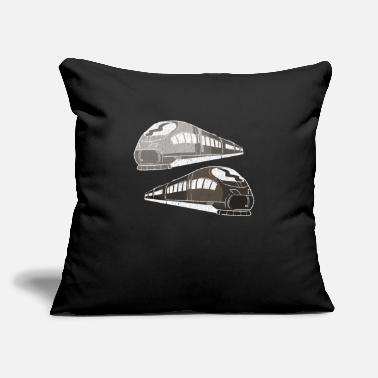 "Training Trains train - Throw Pillow Cover 18"" x 18"""