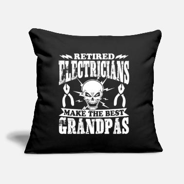 "Electrician Tee Shirt - Throw Pillow Cover 18"" x 18"""