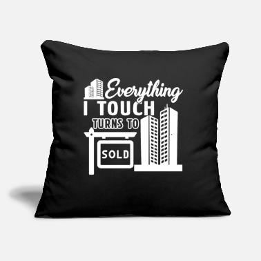 "Real Estate Agent Real Estate Agent Shirts - Throw Pillow Cover 18"" x 18"""