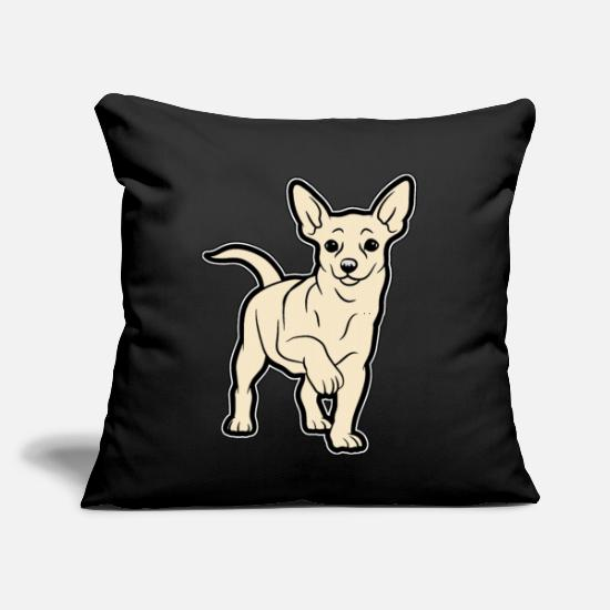 "Love Pillow Cases - Chihuahua - Throw Pillow Cover 18"" x 18"" black"