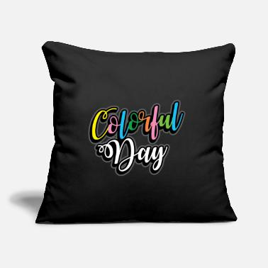 "Color Colored Color Gift many colors - Throw Pillow Cover 18"" x 18"""