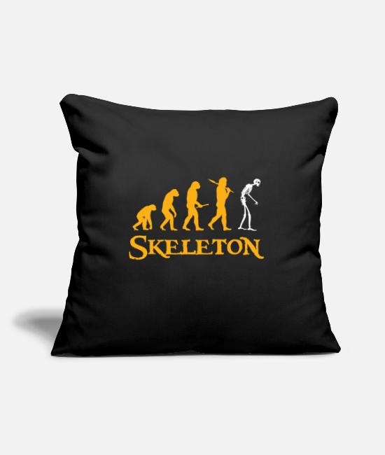 "Easter Pillow Cases - Skeleton gift scary Christmas - Throw Pillow Cover 18"" x 18"" black"