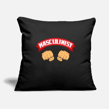 "Masculinity masculinist masculine gift - Throw Pillow Cover 18"" x 18"""