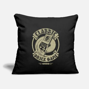 "Classic Game Classic Brick Game - Throw Pillow Cover 18"" x 18"""