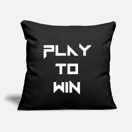 "Play Pillow Cases - Gamer - Throw Pillow Cover 18"" x 18"" black"