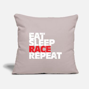 "Car Racing Race gift car racing car - Throw Pillow Cover 18"" x 18"""