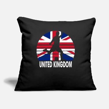 "United Kingdom Soccer Football GBR - Throw Pillow Cover 18"" x 18"""
