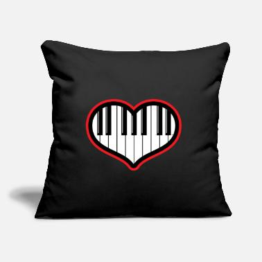 "Piano Piano gift piano and grand piano - Throw Pillow Cover 18"" x 18"""