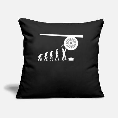 "Mechanic Jet engine mechanic aviation gift idea - Throw Pillow Cover 18"" x 18"""