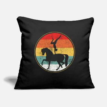 "Stall Vaulting horse stall - Throw Pillow Cover 18"" x 18"""