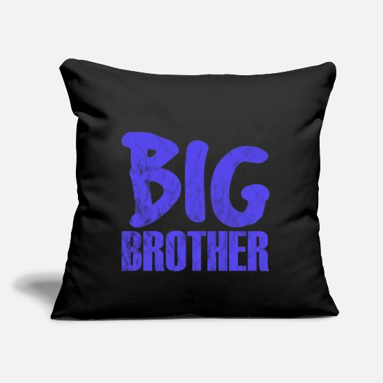 "Love Pillow Cases - brother - Throw Pillow Cover 18"" x 18"" black"