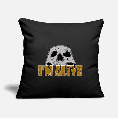 "Alive I'm alive - I'm alive - Throw Pillow Cover 18"" x 18"""