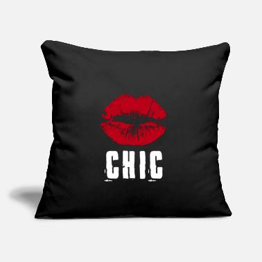 "Chic Chic - Throw Pillow Cover 18"" x 18"""