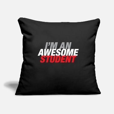 "Semester Student gift semester university study - Throw Pillow Cover 18"" x 18"""