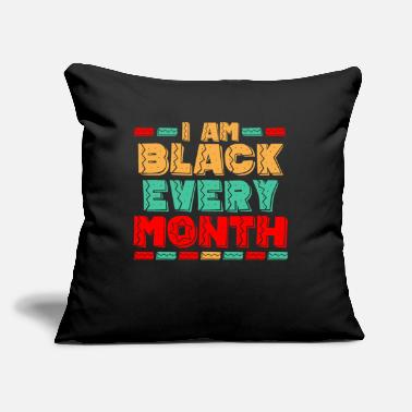 "Black History American African Pride - Throw Pillow Cover 18"" x 18"""