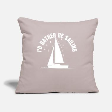 "Sailboat Sailboat - Throw Pillow Cover 18"" x 18"""