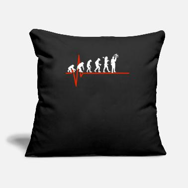 "Crossbow Crossbow Heartbeat - EVOLUTION OF CROSSBOW - Throw Pillow Cover 18"" x 18"""