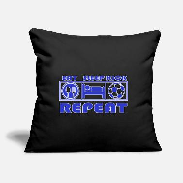 "Kick Kick Eat Sleep Repeat - Kick - Throw Pillow Cover 18"" x 18"""