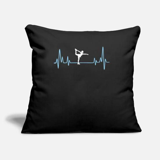 "Illustration Pillow Cases - Figure Skating Present For Your Boyfriend - Throw Pillow Cover 18"" x 18"" black"