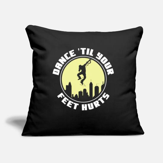 "Gift Idea Pillow Cases - Dancing Dance Class Romantic Sweating - Throw Pillow Cover 18"" x 18"" black"