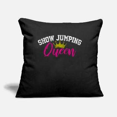 "Show Jumping Show Jumping Equestrian - Throw Pillow Cover 18"" x 18"""
