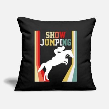 "Show Jumping Show Jumping Rodeo - Throw Pillow Cover 18"" x 18"""