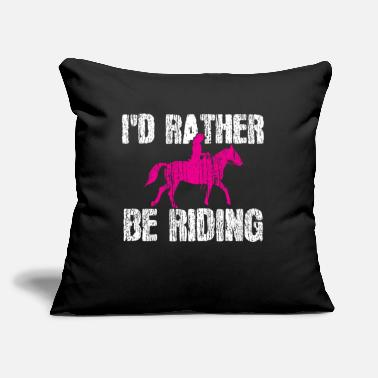 "Western Horse Horse Rider Western Country Rodeo - Throw Pillow Cover 18"" x 18"""