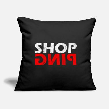 "Shops shopping - Throw Pillow Cover 18"" x 18"""