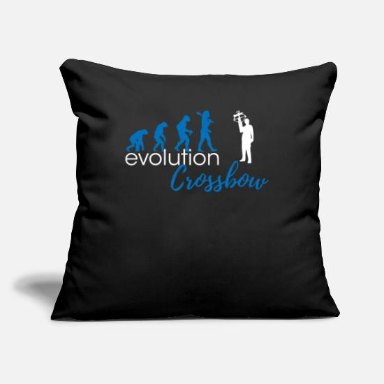 "Crossbow Pillow Cases - Crossbow Evolution - Throw Pillow Cover 18"" x 18"" black"