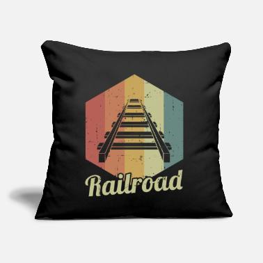 "Railway Track Railway tracks - Throw Pillow Cover 18"" x 18"""