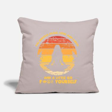 "Meditation Meditation Vibes - Throw Pillow Cover 18"" x 18"""
