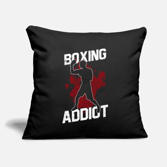"Competition Pillow Cases - Boxing - Throw Pillow Cover 18"" x 18"" black"