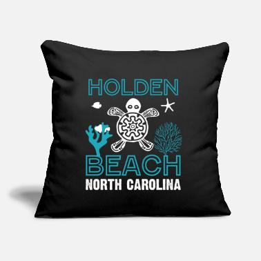 "North Sea Sea Turtles Beach North Carolina - Throw Pillow Cover 18"" x 18"""