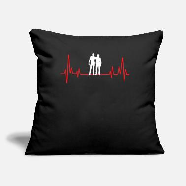"Laughingoutloud Buddy Heartbeat - Throw Pillow Cover 18"" x 18"""